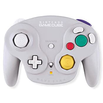 Gamecube Wavebird Wireless Controller Grey Silver Compatible with Wii