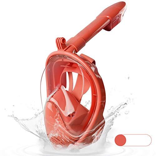 KP&CC Máscara De Snorkel De Cara Completa, Mascarilla De Buceo Completamente Seca, Anti-Fugas, Anti-Fugas, Tubo De Respiración Extraíble Snorkel Mask 180 ° Seaview para Niños
