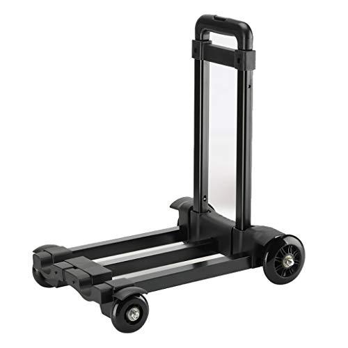 Unbekannt Faltbarer Hand-LKW, 60-kg-Hochleistungs-4-Rad-Servierwagen mit Solider Konstruktion Erweiterbares Fahrgestell Kompakt und leicht für Gepäck, Auto, Umzug und Büro