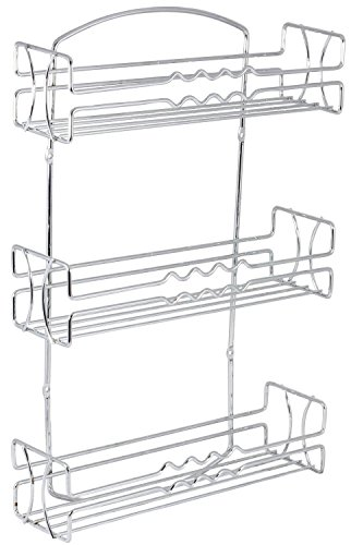 DecoBros 3 Tier Wall Mounted Spice Rack Chrome