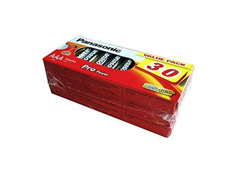 Panasonic LR03PPG/30BB Pro Power Alkaline Batterie, AAA - Micro - LR03, 30er Pack Gold