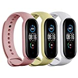 Tkasing Compatible with Xiaomi Mi Band 5 Strap,Band for Xiaomi 5 Smartwatch Wristbands Replacement Accessories Straps Bracelets for Mi Band 5 Strap (Not for Mi1/2/3/4)