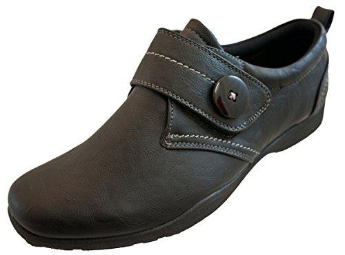 Dr traje de neopreno para mujer Keller negro Velcro zapatos de trabajo cubiertos de Everyday sandalias, color negro, talla 41.5