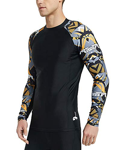 LAFROI Herren Langarm LSF 50+ Baselayer Skin, Performance Fit Kompressions-Rashguard M Armour