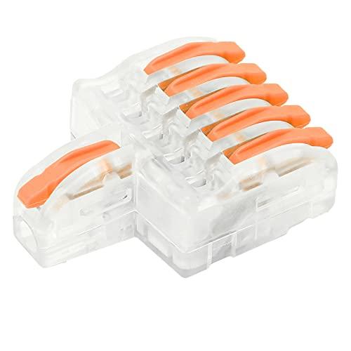 Eujgoov 20 piezas conector rápido de cable 1 en 5 conectores de...