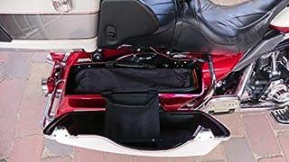 Borsa da sella per moto Organizer Borsa da sella Porta attrezzi da parete Custodia rigida per Harley 14-up Electra Street Road Glide
