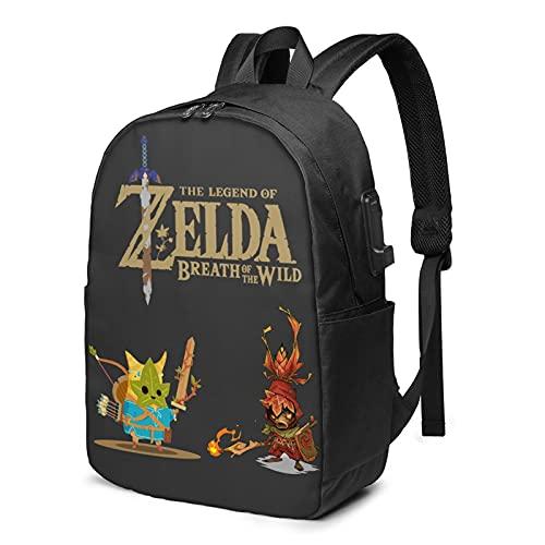 Legend of Zelda Links Awakening Gift Elegante Zaino per uomo e donna Leggero Zaino Scuola Casual nero4 Taglia unica