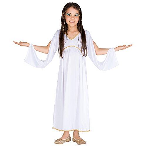 TecTake dressforfun Mädchen Kostüm griechische Prinzessin   Wundervolles und anmutiges Kleid   Goldene Bordüre am Kragen (3-5 Jahre   Nr. 300370)