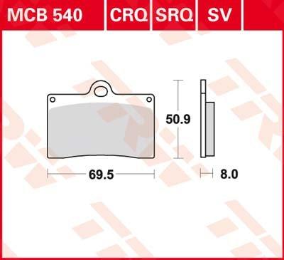 TRW lucas frein avant pour moto guzzi v11 sV-kR 97–0 mCB540SV sport