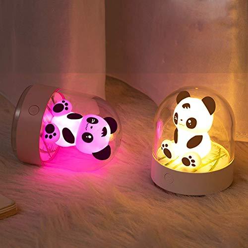 showyow Luz de Noche Recargable, Luz de Noche LED Blanca cálida, Sensor de anochecer a Amanecer, Niños, Dormitorio, Baño, Pasillo, Escalera, Cocina