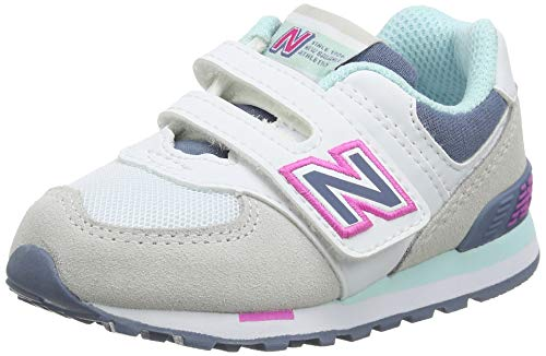 New Balance 574 IV574NLH Medium, Zapatillas Bebé-Niñas, Grey (Summer Fog NLH), 25 EU