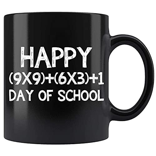 N\A Fórmula matemática 100 días de Escuela, Maestro, niño, niña, Taza de café de cerámica, Taza de té