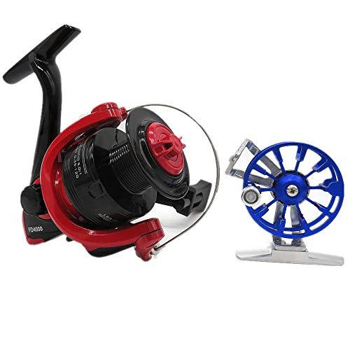 All-MetalFishingReelSet,IncludeSpinningWheel FishingReeland IceFishingReel,Lightweight UltraSmooth SpinReels,Suit for Ultralight,IceFishing,Lake Fishing..