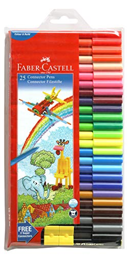 Faber-Castell Connector Pen Set - Pack of 25 (Assorted)
