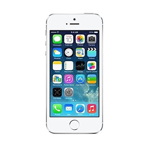 "Apple iPhone 5S - Smartphone libre iOS (pantalla 4"", cámara 8 Mp, 16 GB, Dual-Core 1.3 GHz, 1 GB RAM), plateado"