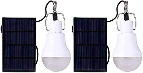 AIOJY 2 Pack Portable Solar Led Bulb Lights Solar Powered Chicken Coops Light For Chicken Coop Shed Lighting