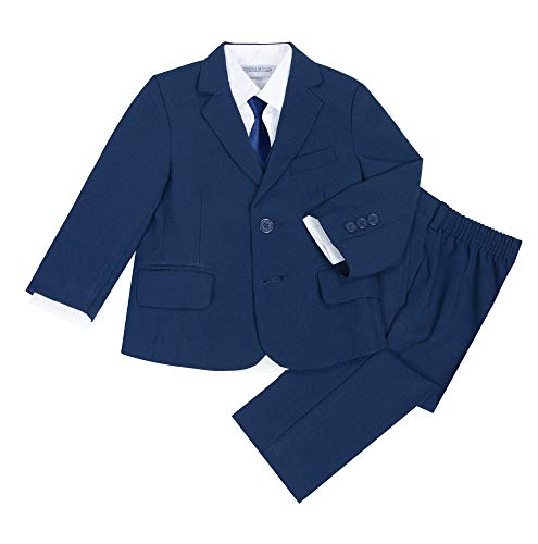 Kanodan Baby Boy Waistcoat Gentleman Suit Long Sleeve 3 Pieces Wedding Outfits (Royal Blue 2, 18-24Months)