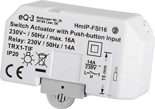 Homematic IP Smart Home Schaltaktor mit Tastereingang (16 A) – Unterputz, 154346A0
