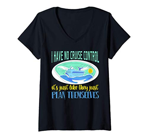 Damen Schiff Yacht Segeln Kapitän Schifffahrt Wellensegelboot Boot T-Shirt mit V-Ausschnitt