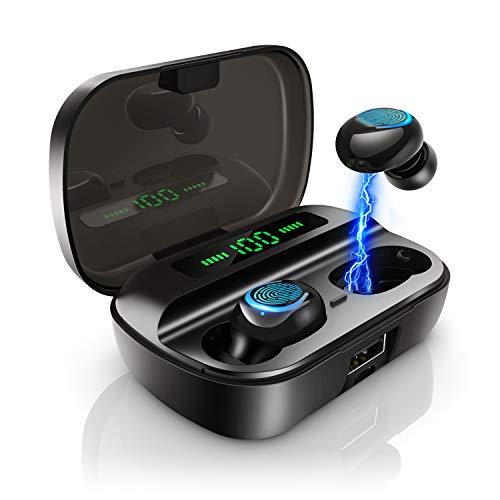 Bluetooth Kopfhörer in Ear, AceScreen Kabellose Bluetooth 5.0 Kopfhörer mit 200H Stunden Spielzeit, Mono/Share-Modus, Touch-Control Wireless Earbuds Headset, Stereo Ohrhörer mit Mikrofon & Ladecase
