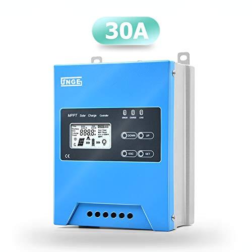 SolaMr MPPT 30A Solarladeregler 12V/24V/48V Intelligente Identifizierung Buck Solarladeregler Solarpanel-Batterieregler mit LCD-Display Temperatursensor RS485-Schnittstelle - 30A