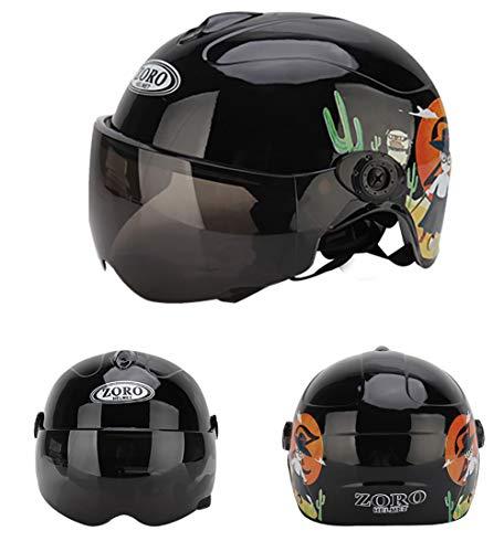 Kinder-Fahrradhelm mit Abnehmbarer magnetischer Brille Visier Shield Radfahren Mountain & Rennradhelme verstellbar, Sicherheitsschutz und atmungsaktiv