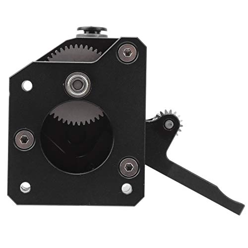 Metal Dual Drive Extruder High Performance Dual Gear Extruder Hardened Steel All Metal Dual Gear Extruder Double Feed Paper for BMG Extruder with 1Pack of Parts(Left hand)