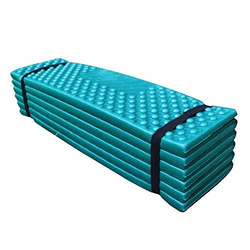 LZDseller01 - Colchón de espuma para dormir, colchón de acampada, almohadilla de espuma para dormir, ultraligero, plegable, resistente a la humedad, para picnic, playa, tienda de campaña impermeable, dark green + black