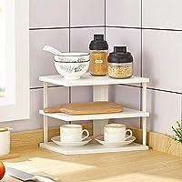 多機能スパイスラック、多層鍋ホルダースパイス収納シェルフコーナーオーガナイザー棚のための棚のための棚 調味料 スパイスラック (色 : White-3 layer)
