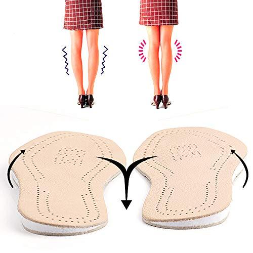 TLXOGBS Echtes Leder O Bein Fußpflege Orthesen Silikon Gel Fersenkissen Einlegesohle Schuhe Pad Füße Sohle Mann Und Frau 39 bis 40 255mm als Zeigen