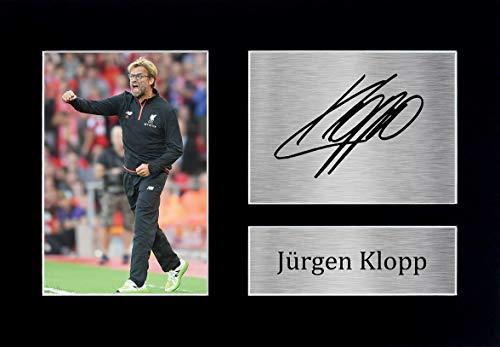 HWC Trading Jurgen Klopp A4 Ungerahmt Signiert Gedruckt Autogramme Bild Druck-Fotoanzeige Geschenk Für Liverpool Fußball Fans