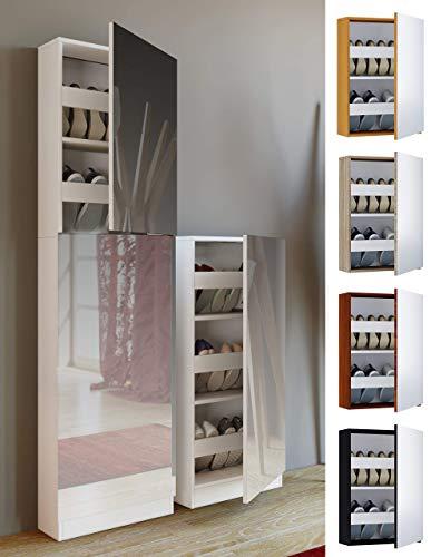 VCM Fulas Mini Schuhaufbewahrung, Holzstruktur, Weiß, Einheitsgröße