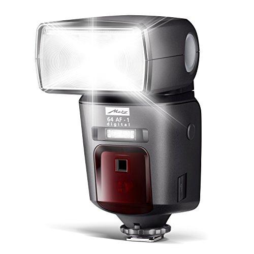 Metz mecablitz 64 AF-1 für Canon Kameras (DSLR und CSC) | High End Blitzgerät mit TTL, Leitzahl 64, HSS (High Speed Sync), Zweitreflektor, Touch-Display etc.