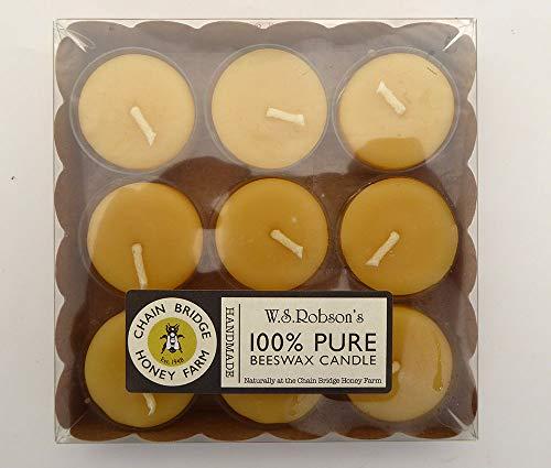 WSRobson's 100% Beeswax Candle Pk 9 Tealights