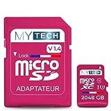 MyTech - Scheda di memoria Micro SD 2048 GB (2 TB) V1.4, capacità reale +...