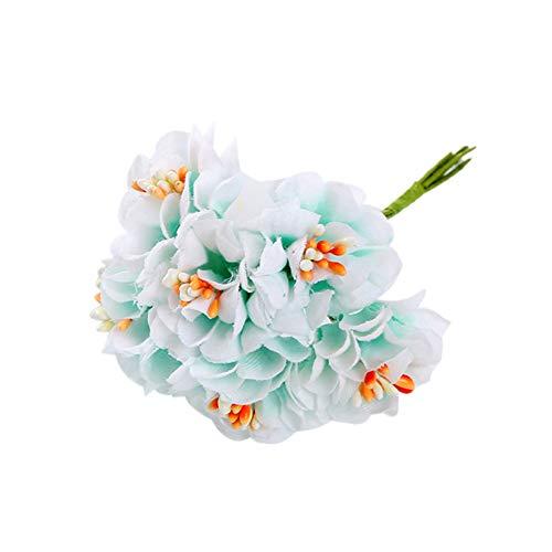 XdiseD9Xsmao 1 boeket met levendige kleuren, kunstbloemenboeket voor huis, bruiloft, bruiloft, bruiloft, knutselen, tuin, kerstdecoratie