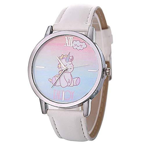 AMIIBO Reloj Unicornio Reloj de Pulsera de Cuero de Imitación Reloj de...