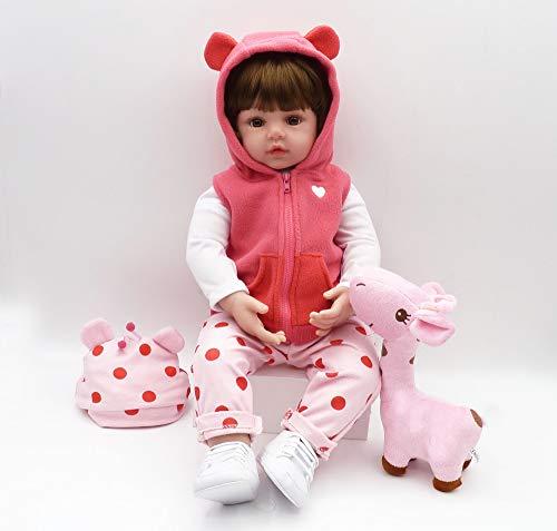 iCradle Realistische Reborn Babypuppen Mädchen Weiche Silikon Vinyl Kleinkind Reborn Baby Doll Magnetisch Mund (18