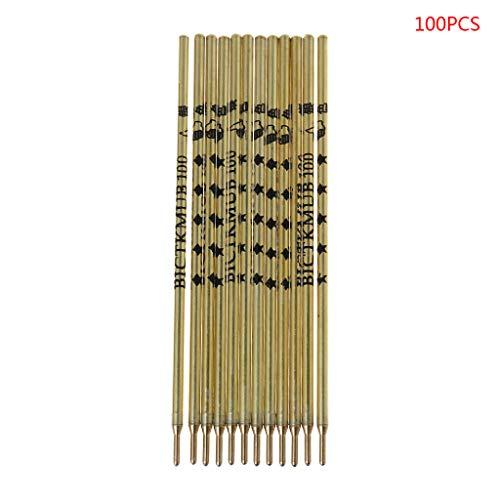 JERKKY Repuestos de bolígrafo, 100 Piezas Tubo de Mercurio Repuesto de Plata Ropa Corte de Cuero Marca Especial Pluma de línea Oro