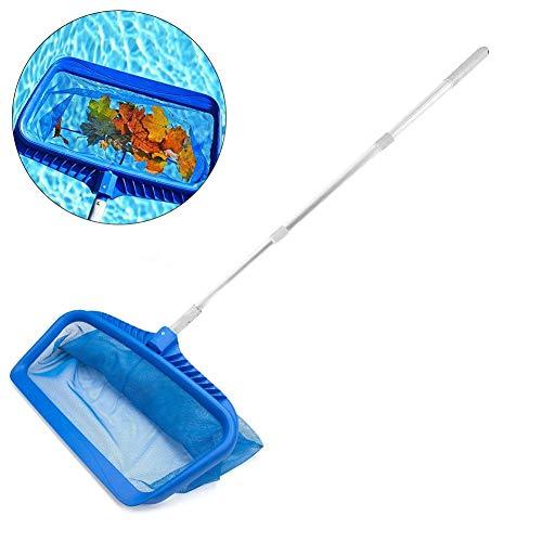 Net Leaf Skimmer, schepnet, kunststof mesh-net, skimmer-tool voor diepe zwembad vijver whirlpool fontein aquarium, geschikt voor spa, fontein, voor helder zwembad bladeren en trommers, 46-105 cm