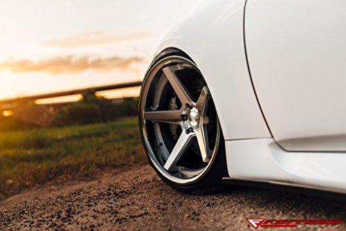 20' Inch Ferrada FR3 Silver Machine/Chrome Lip Concave Wheels Rims | Set of 4 | Fits INFINITI G37 G37S COUPE CONVERTIBLE