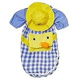 Galapara 犬のシャツ,ペットのチェック柄シャツ,ペットの夏服,子犬の黄色い帽子,アヒルの漫画のバックパック,コットン,柔らかい,創造性,美しい,夏,ペット用品,小型犬,ツイン