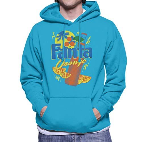 Fanta Oranje Fles 90s Zomer Heren Hooded Sweatshirt