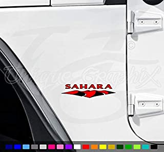 Sahara Fender Decals 2 Color 1 Pair YJ CJ TJ JK