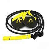 SUNERLORY Entrenador de fuerza de brazo, bandas de resistencia TPE, para adultos, 60 libras, equipo de entrenamiento muscular, color negro, cuerda para pilates, gimnasio