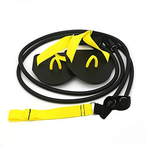 Sunerlory Arm-Krafttrainer, TPE, Widerstandsbänder für Erwachsene, 60 Pfund Schwimmpaddel, Stretch, Workout-Ausrüstung, Muskel-Training, schwarzes Zugseil, nicht null, Wie abgebildet
