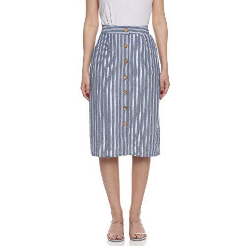 DJ&C by FBB Rayon Body con Skirt (1001968778_Blue_X-Large)