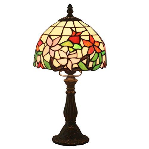 FABAKIRA Tiffany Estilo Lámpara de Mesa 8 Pulgadas Lámpara de Cabecera Lámpara de Escritorio Lámpara de la Sala de Estar de la Barra