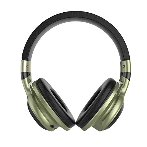 Docooler LED-licht draadloze BT-hoofdtelefoon over-ear hoofdtelefoon opvouwbare stereo-microfoon-headset ondersteuning TF-kaart FM-audio-bus, groen