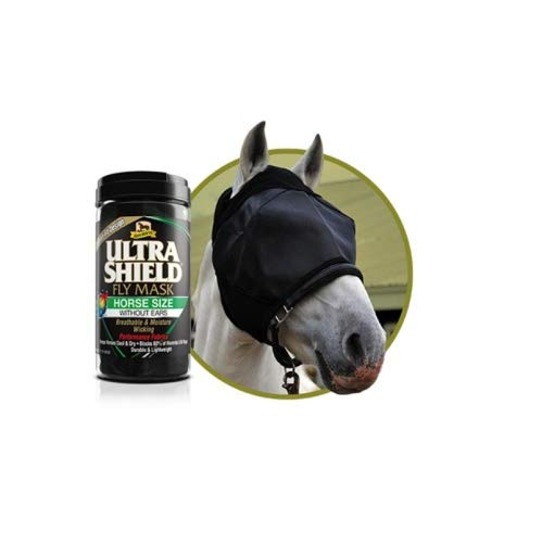 Absorbine Fliegenmaske Ultra Shield Fly Mask Without Ears Größe Horse (for Average Horse, Small Warmblood)
